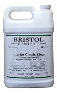 Bristol Finish Interior Classic Clear Water Based Urethane - Soft Satin Finish Gallon