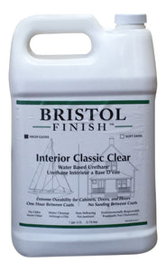 Bristol Finish Interior Classic Clear Water Based Urethane - High Gloss Finish Gallon