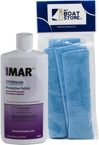 MyBoatStore Imar 302 Strataglass Polish Bundle with a Microfiber Detailing Cloth (2 Total Items)