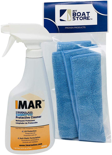 MyBoatStore Imar 301 Strataglass Cleaner Bundle with a Microfiber Detailing Cloth (2 Total Items)