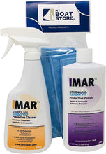 Load image into Gallery viewer, MyBoatStore Bundle Includes Imar 301 Strataglass Cleaner, an Imar 302 Polish and a Microfiber Detailing Cloth. Bundle has 3 Total Items