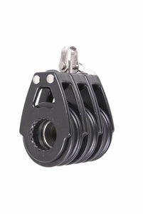 Nautos #92030 - Organic Line Triple Swivel, Black - 57 mm Block