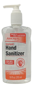 Instant Hand Sanitizer - Assured - Kills 99.99% - Compare to Purell