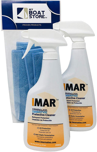 MyBoatStore Imar 301 Strataglass Cleaner Bundle (2 Bottles) with Microfiber Detailing Cloth (3 Total Items)
