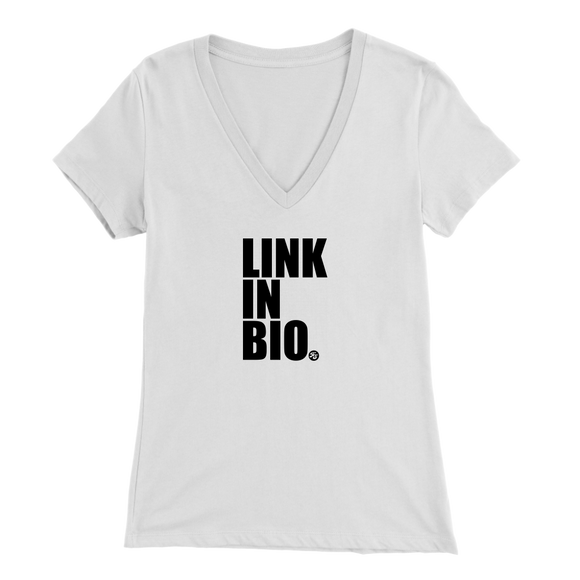 LINK IN BIO - WOMEN'S V NECK TEE - True Story Clothing