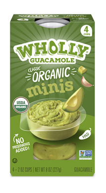 Wholly Guacamole Minis organic packaged midnight snack