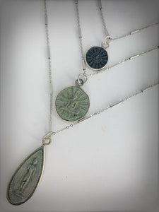 RITUAL COLLECTION - Large Buddha Amulet on Silver Chain