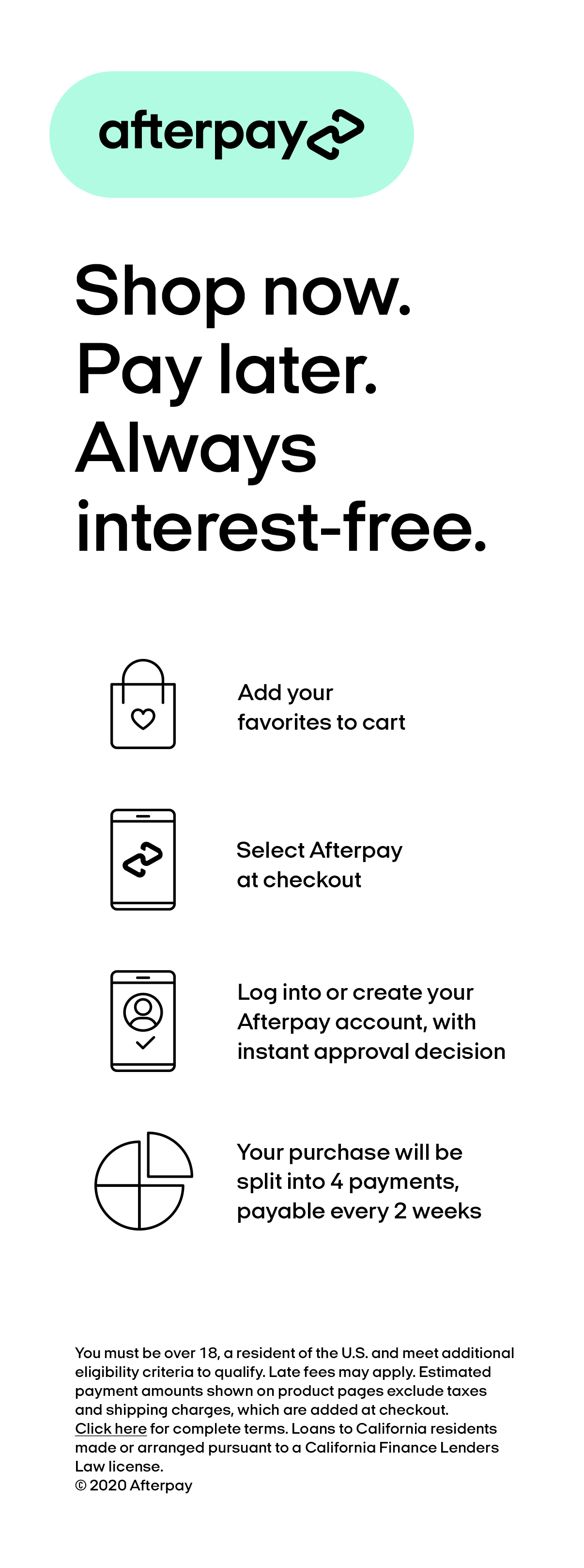 Afterpay Terms