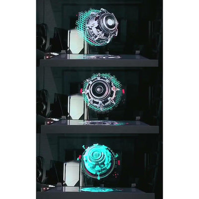 HOLOX 3D Hologram Advertising Display LED Fan-My Tool Bucket-My Tool Bucket