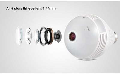 360° Fish Eye Bulb Panoramic IP Camera-My Tool Bucket-My Tool Bucket