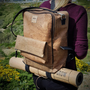 Yoga Backpack Made of Cork, Yoga, Yoga Bag, cork fabric, Made in Portugal