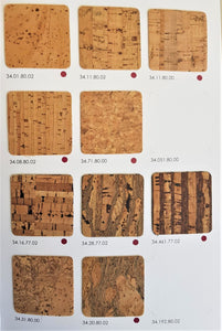 Cork fabric Wholesale M2 Natural patterns