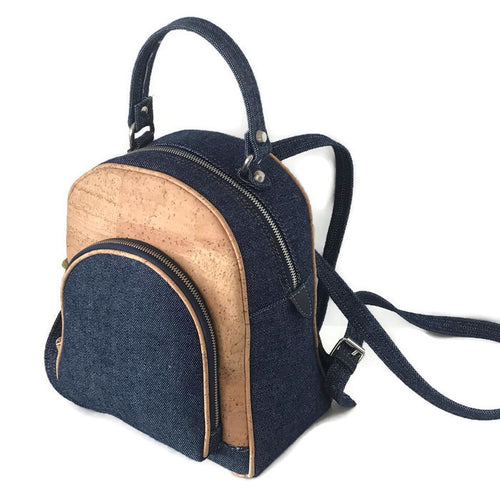 201938 Backpack made of cork & Jeans