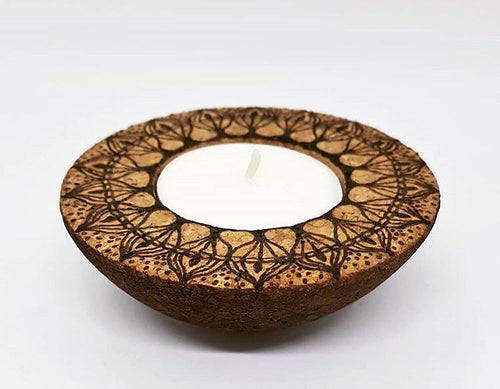 Tealight Holder Made of Natural Cork