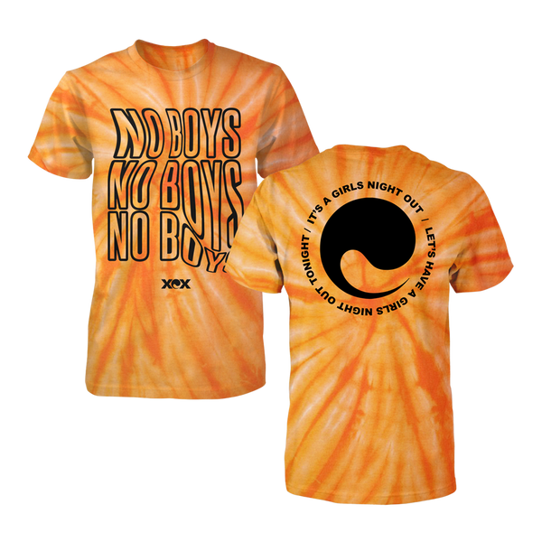 Girls Night Out Burnt Orange Tie Dye T-Shirt