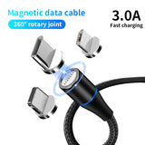 3A Magnetic Cable Quick Charge Type C Fast Charging 3ft 1m Sync Data Cable Fast Charging Line for Samsung S20 HuaweI