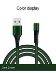 Quick charge magnetic USB Cable - 6 ft  Liquid Silicone Random colors Shipping from USA