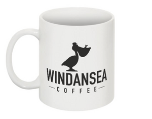 Windansea Ceramic Coffee Mug | White porcelain | 12 oz