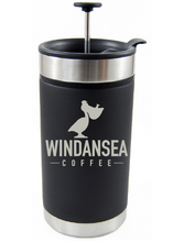 Load image into Gallery viewer, Laser Engraved French Press Thermos Mug