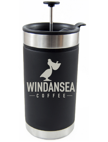 Laser Engraved French Press Thermos Mug