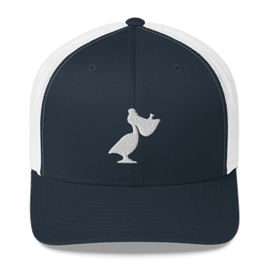Embroidered Windansea Pelican Trucker Cap - Low Crown - FREE SHIPPING!!