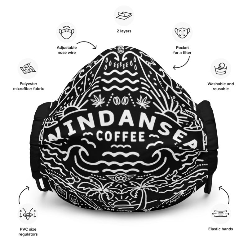 Windansea Mandala Premium Face Mask