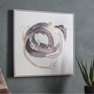 Abstract Whirlpool Framed Canvas Art - Framed Art