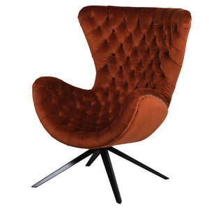 Adele Burnt Orange Egg Chair - Accent Chair