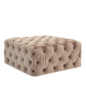 Allure Coffee Velvet Footstool - Footstool