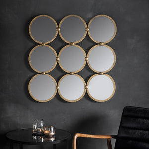 Amira Antique Gold Leaf Mirror - Wall Mirror