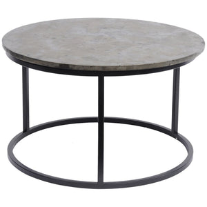 Asher Pyrite & Black Steel Coffee Table - Coffee Table