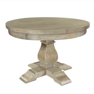 Ashford Lime-Washed Pine Round Refectory Dining Table - Dining Table