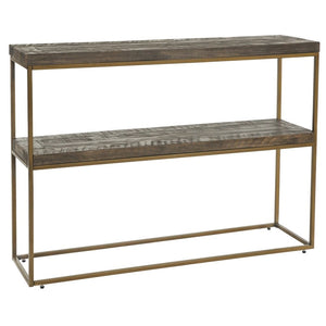 Avery Bronze & Reclaimed Wood Console Table - Console Table