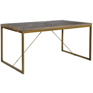 Avery Bronze & Reclaimed Wood Dining Table - Standard 1.8m - Dining Table