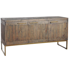 Avery Bronze & Reclaimed Wood Sideboard - sideboard