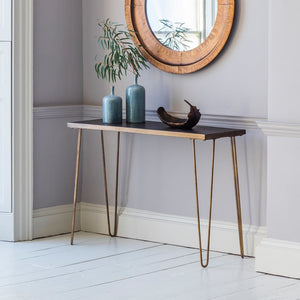 Brass Hairpin Console Table - Console Table