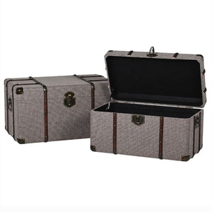 Brown Trunks (Set of 2) - Storage Trunk