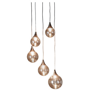 Cassius 5-Light Droplet Pendant - Pendant Light