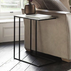 Crawford Black & Silver Side Table - side table