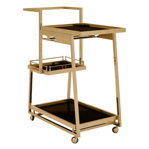 Cruz Gold & Glass Drinks Trolley - Drink Trolley
