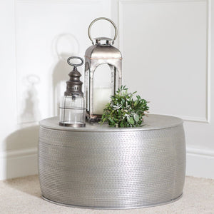 Dahlia Silver Aluminium Coffee Table - Coffee Table