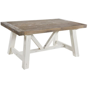 Devon Distressed Off-White Dining Table - Large (Length 2m) - Dining Table