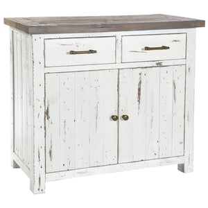 Devon Distressed Off-White Small Sideboard - sideboard
