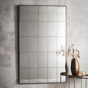 Easton Aged Glass Panel Mirror - Wall Mirror