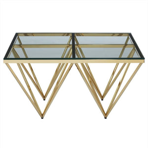 Estella Gold & Glass Coffee Table - Coffee Table