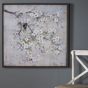 Everly White Blossom Canvas Art - wall art