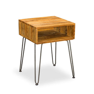 Factory Hairpin Side Table - side table