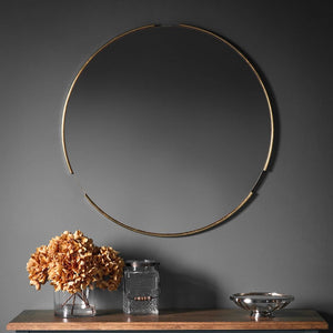 Fitzroy Round Mirror Gold - Framed Art