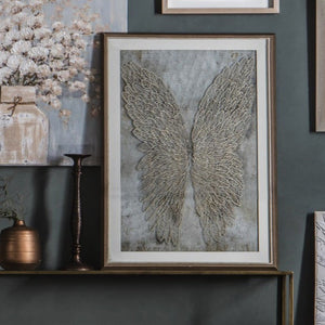 Framed Golden Wings - wall art