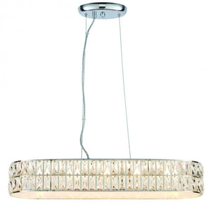 Garcia Chrome & Crystal Pendant Light - Pendant Light